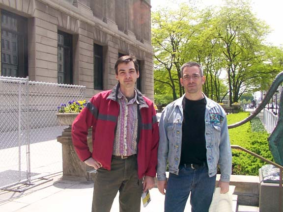 Jeff and Greg in Chicago, 2003