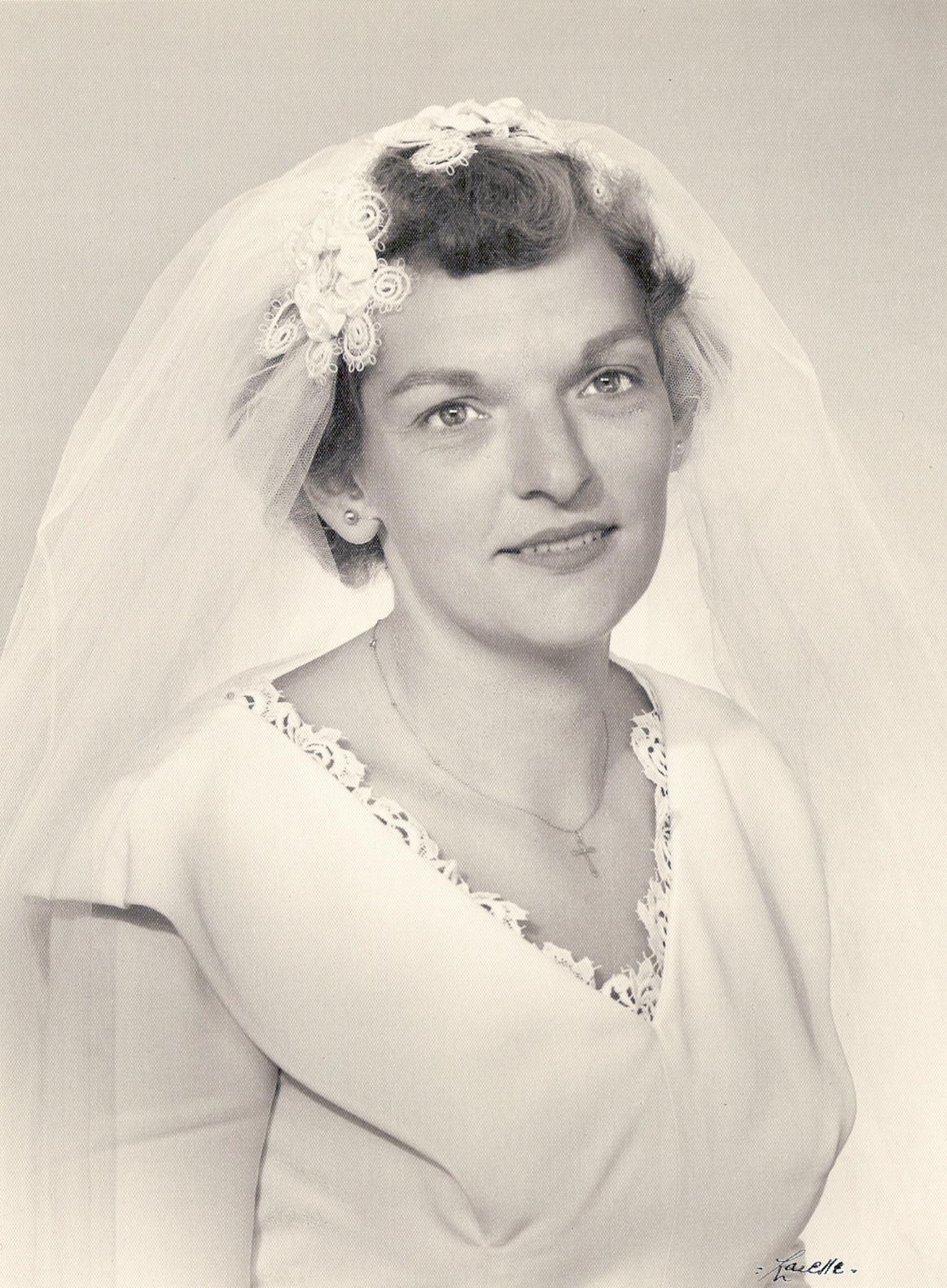 Mum at her wedding